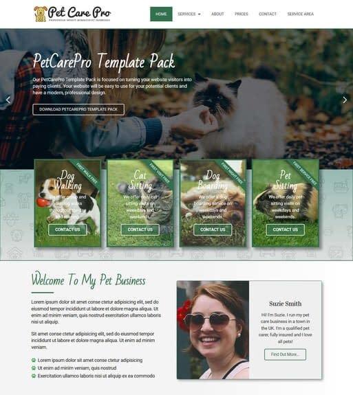Pet Care Dog Grooming Web Templates