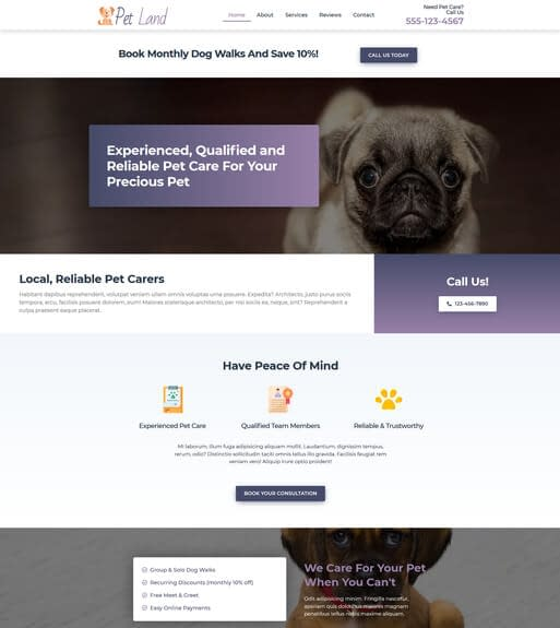 Petland Pet Business Website