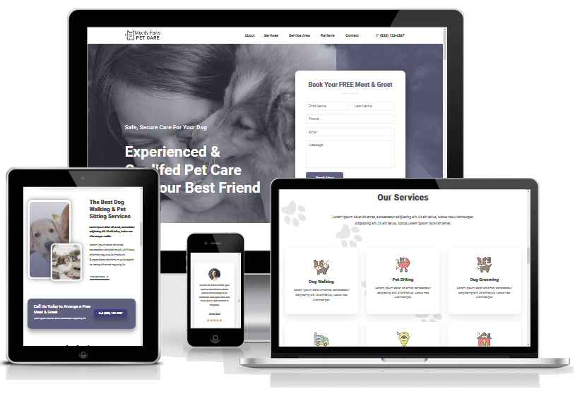 Free Pet Care Business Web Template