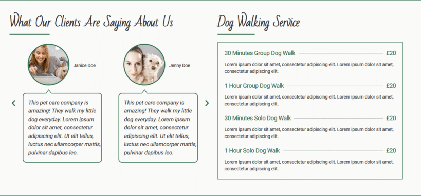Web Design For Dog Walkers Pet Sitters