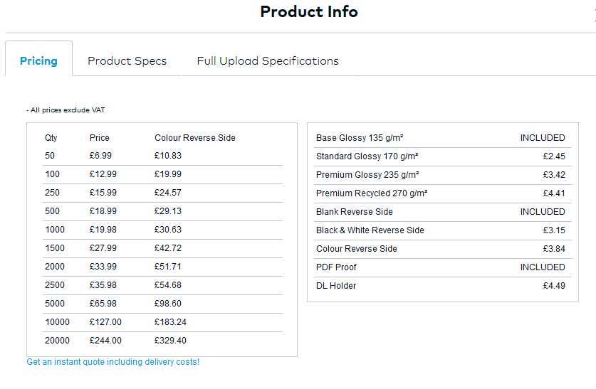 Vistaprint Flyer Price Guide